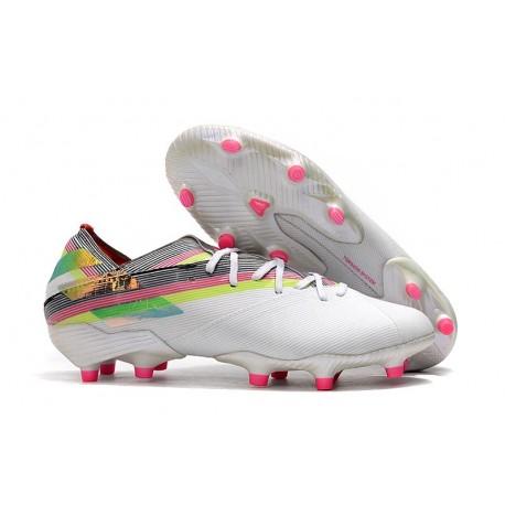 Buty Piłkarskie adidas Nemeziz 19.1 FG - Biały Kolorowy