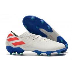 Buty Piłkarskie adidas Nemeziz 19.1 FG - Biały Niebieski Czerwony
