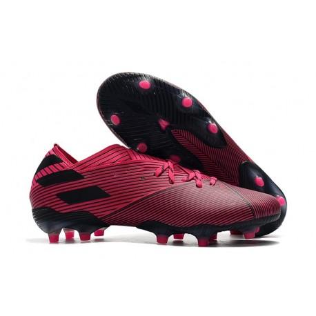 Buty Piłkarskie adidas Nemeziz 19.1 FG - Różowy Czarny