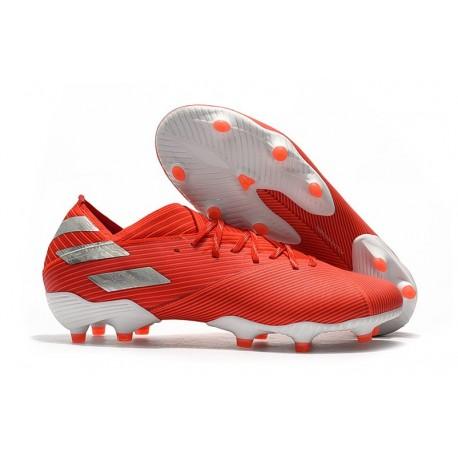 Buty Piłkarskie adidas Nemeziz 19.1 FG - Czerwony Srebro