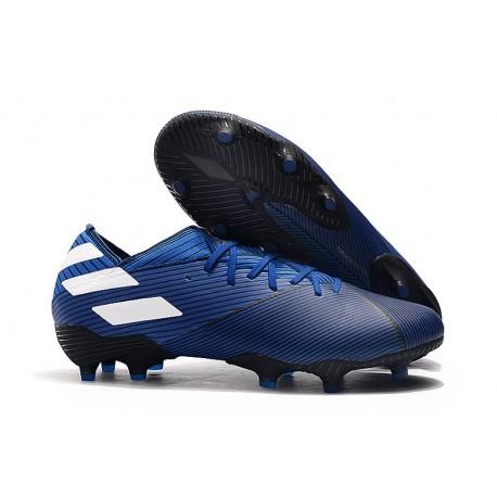 Buty Piłkarskie adidas Nemeziz 19.1 FG - Niebieski Biały