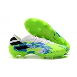 Buty Piłkarskie adidas Nemeziz 19.1 FG - Biały Zielony Niebieski