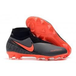 Meskie Buty piłkarskie Nike Phantom VSN Elite DF FG - Czarny Czerwony