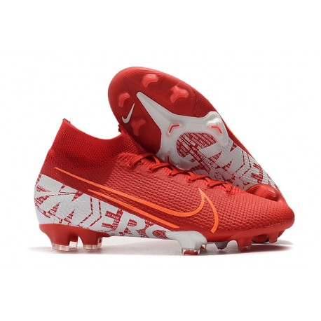 Nike Mercurial Superfly VII Elite FG Korki - Czerwony Biały