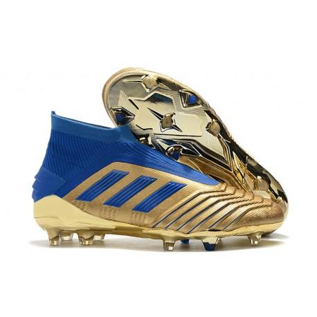 Korki Pilkarskie Adidas Predator 19+ FG Złoto Niebieski