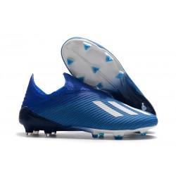 adidas Predator 19+ FG Korki Pilkarskie - Niebieski Biały