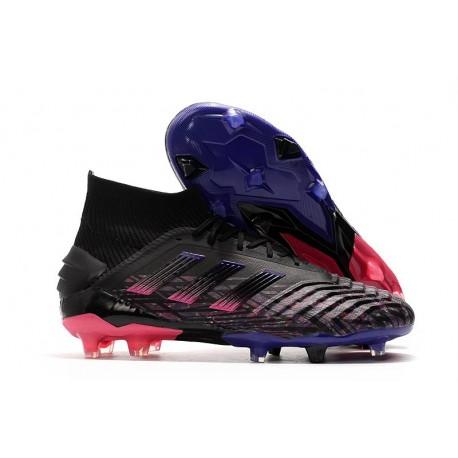 Korki Pilkarskie Adidas Predator 19+ FG Czarny Różowy Niebieski