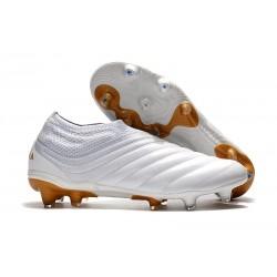 Meskie - Buty piłkarskie Adidas Copa 19+ FG Biały Złoty