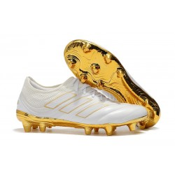 Profesjonalne Buty piłkarskie Adidas Copa 19.1 FG Biały Złoto