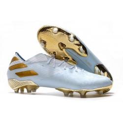 Buty Piłkarskie adidas Nemeziz 19.1 FG - Niebieski Złoty Biały