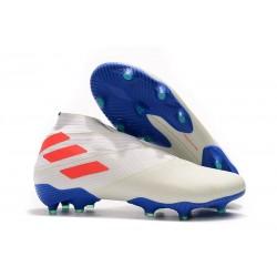 Adidas Buty Piłkarskie Nemeziz 19+ FG - Biały Pomarańczowy