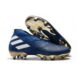 Adidas Buty Piłkarskie Nemeziz 19+ FG - Niebieski Biały Czarny