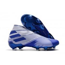 Adidas Buty Piłkarskie Nemeziz 19+ FG - Biały Niebieski