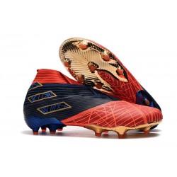 Adidas Buty Piłkarskie Nemeziz 19+ FG X MARVEL Czerwony Niebieski Czarny
