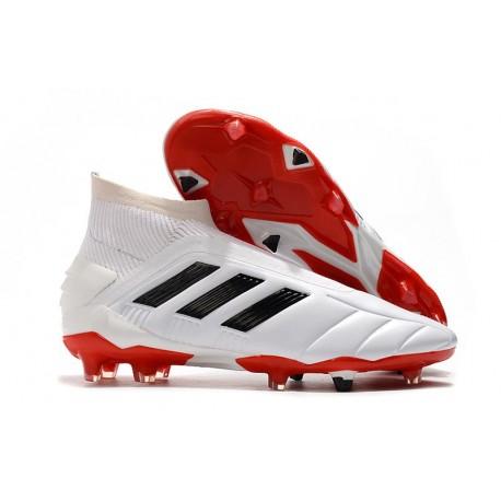 Korki Pilkarskie adidas Predator Mania 19+FG ADV Biały Czerwony Czarny