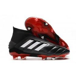 Korki Pilkarskie Adidas Predator 19+ FG Czarny Biały Czerwony