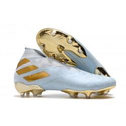 Adidas Buty Piłkarskie Nemeziz 19+ FG -Niebieski Złoty Biały