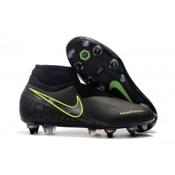 Nike Phantom Vision Elite DF SG-Pro AC Czarny Fluorescencyjny Żółty