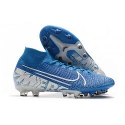 Nike Mercurial Superfly VII Elite AG PRO Niebieski Biały