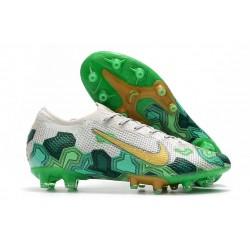 Mbappe Nike Mercurial Vapor XIII Elite AG-PRO AC Biały Zielony Złoty