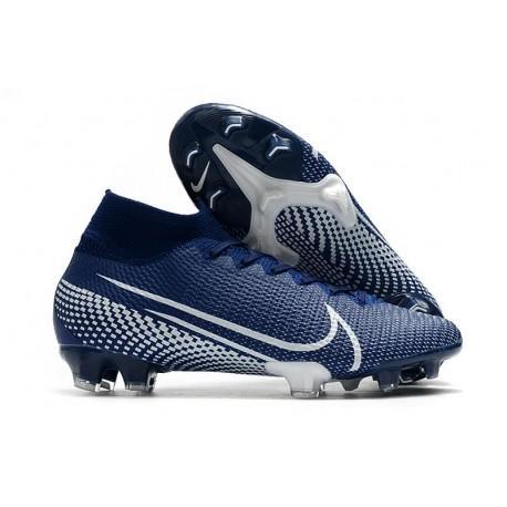 Buty Piłkarskie Nike Mercurial Superfly 7 Elite FG -Niebieski Biały