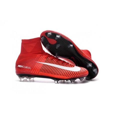 specjalne do butów najbardziej popularny buty na tanie Korki Piłkarskie - Tanie Nike Mercurial Superfly V FG Czerwony Biały