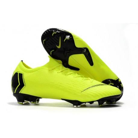 Buty piłkarskie - Meskie - Nike Mercurial Vapor XII Pro FG Zielony Czarny