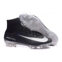 Sklep Buty piłkarskie Nike Mercurial Superfly V FG Czarno Srebrny