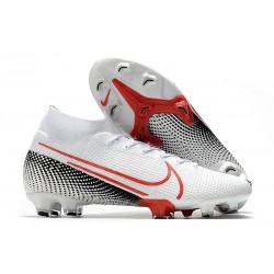Nike Korki Mercurial Superfly VII Elite DF FG Biały Czerwony Czarny