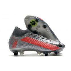 Nike Mercurial Superfly VII Elite SG-PRO Anti Clog Neighbourhood - Szary Czarny