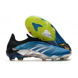 Buty piłkarskie Adidas Predator Archive Fg Niebieski Biały Czerwony