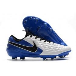 Nike Tiempo Legend 8 Elite FG Korki Pilkarskie Biały Niebieski Czarny