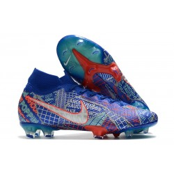 Nike Mercurial Superfly 7 Elite FG Sancho SE11 - Niebieski