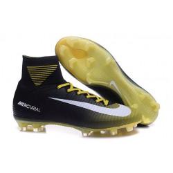 Nowe Buty piłkarskie Nike Mercurial Superfly V FG Czarny ŻÓłty Biały