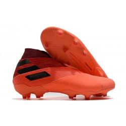 Adidas Buty Piłkarskie Nemeziz 19+ FG - Pomarańczowy Czarny