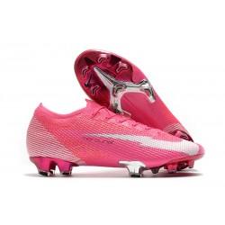 Nike Buty piłkarskie Mercurial Vapor 13 Elite FG x Mbappé Różowy Biały Czarny