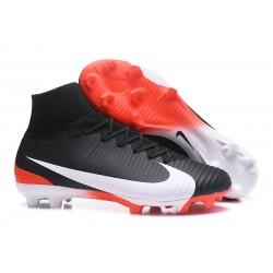 Buty piłkarskie Meskie Nike Mercurial Superfly 5 FG Czarno Biała CzerwieŃ
