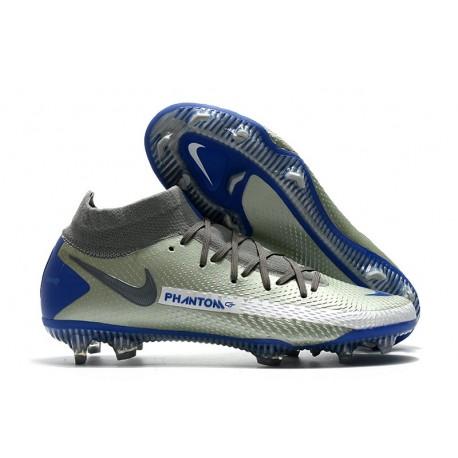Buty 2021 Nike Phantom GT Elite DF FG Srebro Niebieski
