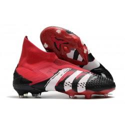 Buty Piłkarskie adidas Predator Mutator 20+ FG - Czarny Czerwony Biały
