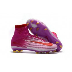 Buty piłkarskie Meskie Nike Mercurial Superfly 5 FG RÓŻowy Biały