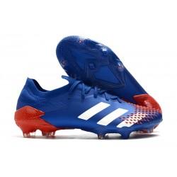 Buty piłkarskie adidas Predator Mutator 20.1 FG Niebieski Biały Czerwony