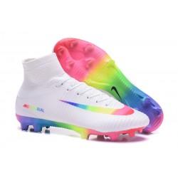 Buty piłkarskie Meskie Nike Mercurial Superfly 5 FG Biała RÓżowa Woltowa Zielona Niebieska Purpurowa Tęcza