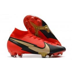 Buty Nike Mercurial Superfly VII Elite DF FG Czerwony Czarny Złoto
