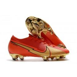 Nike Buty piłkarskie Mercurial Vapor 13 Elite FG CR100 Czerwony Złoty