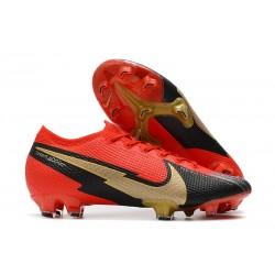 Nike Buty piłkarskie Mercurial Vapor 13 Elite FG Czerwony Czarny Złoto