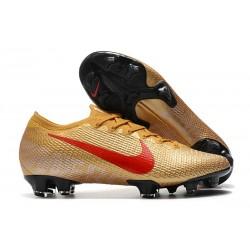Nike Buty piłkarskie Mercurial Vapor 13 Elite FG Złoty Czerwony