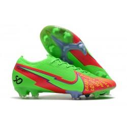 Nike Buty piłkarskie Mercurial Vapor 13 Elite FG Zielony Czerwony