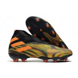 Adidas Buty Piłkarskie Nemeziz 19+ FG - Pomarańczowy Zielony Czarny