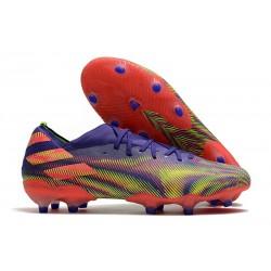 Buty Piłkarskie adidas Nemeziz 19.1 FG - Fioletowy Zielony Różowy