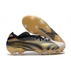 Buty Piłkarskie adidas Nemeziz 19.1 FG - Czarny Złoty Biały